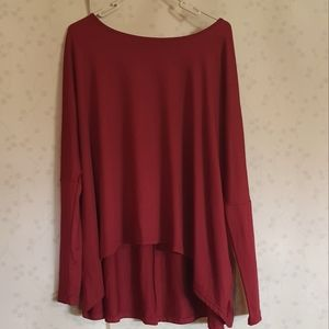 Size XS Shein oversized maroon long sleeve top